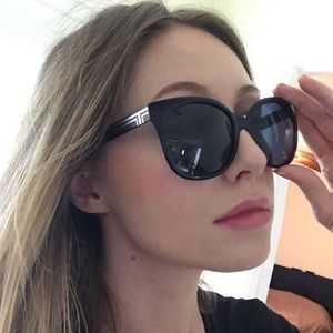 Tory Burch Navy Blue Oversized Sunglasses